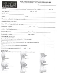 Pediatric Forms